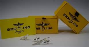 Breitling Tie Pin Cufflinks Swiss