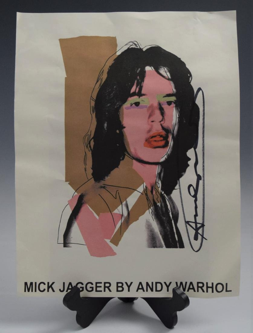 Andy Warhol, Signed Poster (Mick Jagger)