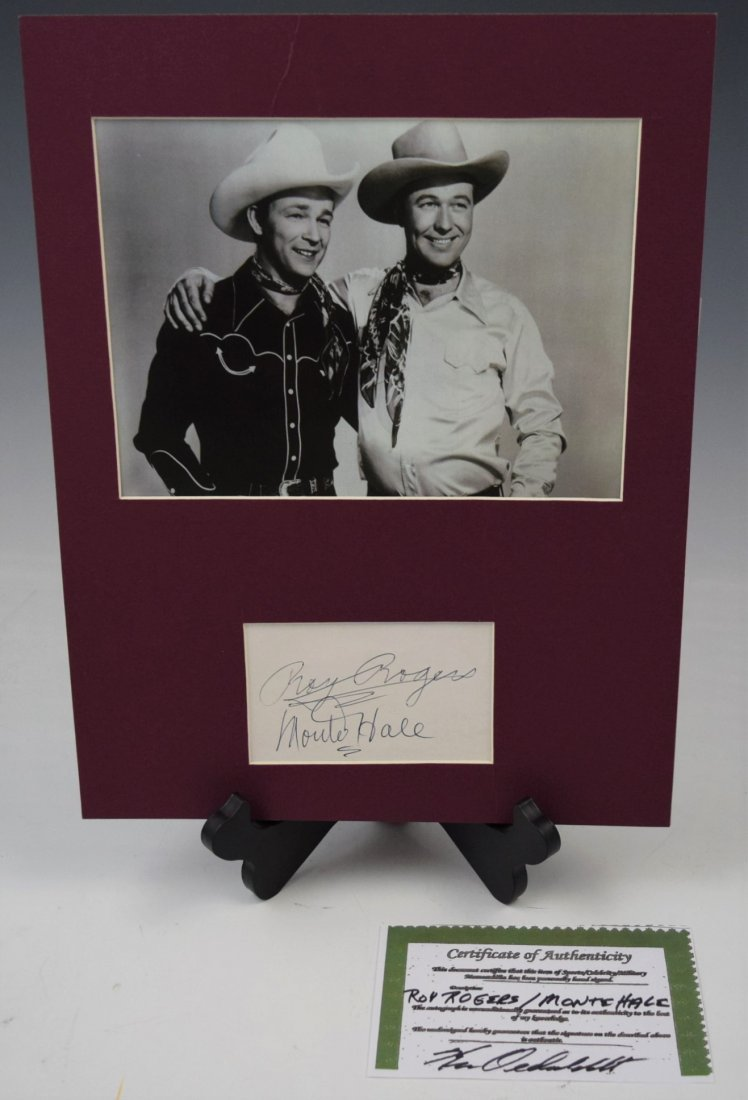 Roy Rogers, Monte Hale Signed Card (w/coa)