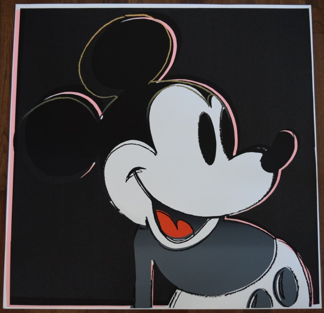 After Andy Warhol Mickey Mouse Screenprint (blindstamp)