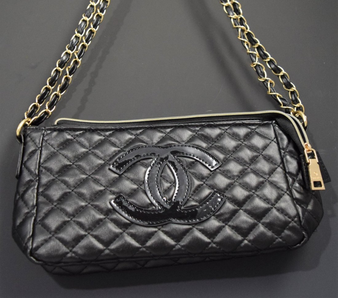 Chanel Black Patent Leather Bag (VIP)