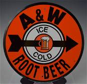 AW Ice Cold Root Beer Sign