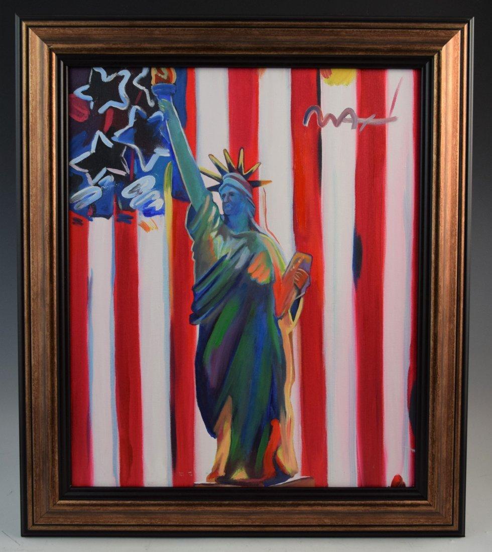 Peter Max, O/C (Statue of Liberty)