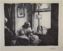 Edward Hopper - East Side Interior (Pencil Signed)