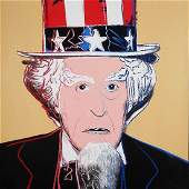 After Andy Warhol Uncle Sam Print Wove Paper