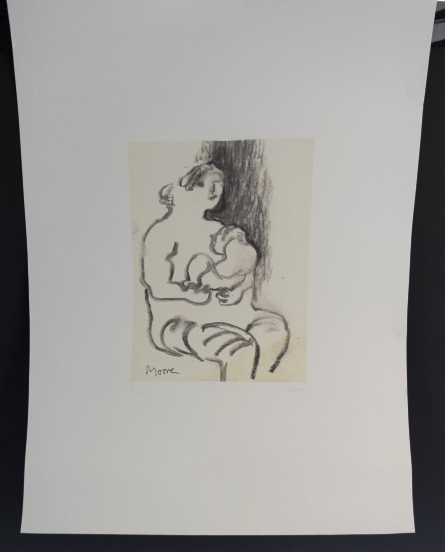 Henry Moore Signed (Lithograph)