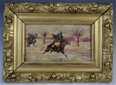Jerzy Kossak - Oil on Canvas (Men on Horses)