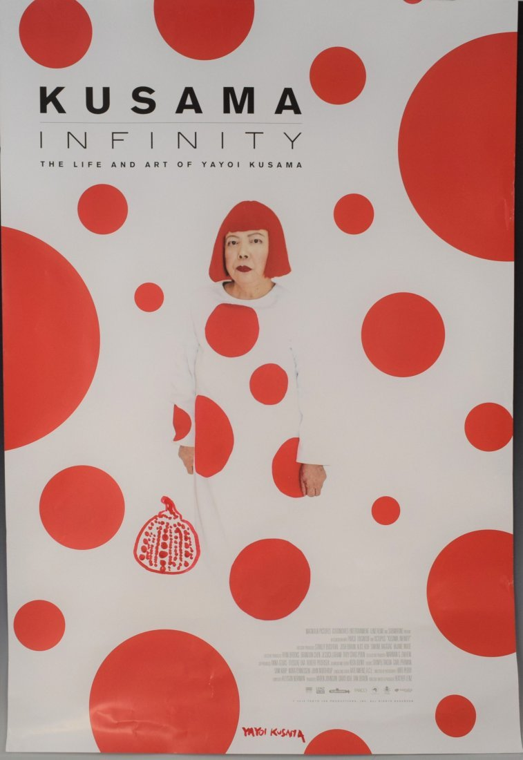 Yayoi Kusama - Signed Movie Poster (w/pumpkin sketch)