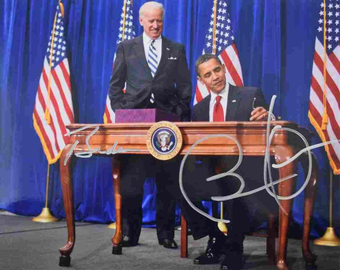 Barack Obama & Joe Biden Photograph (Signed)