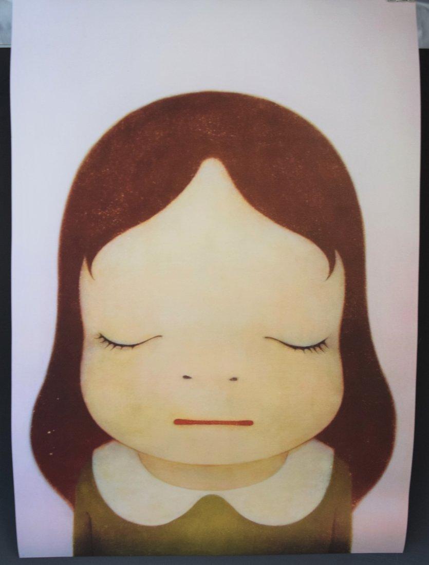 Yoshitomo Nara Offset Lithograph (Eyes Open, Eyes Shut)
