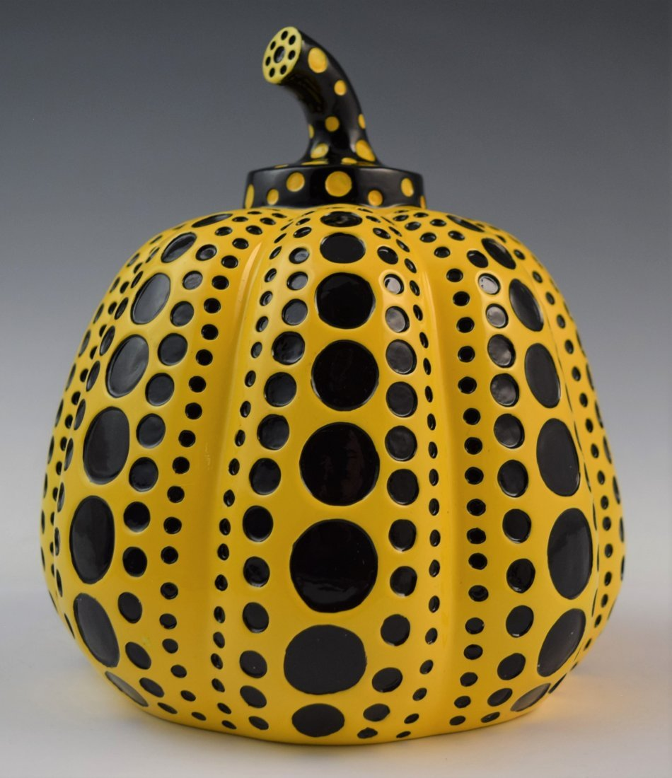 Yayoi Kusama - Large Resin Pumpkin Sculpture (Yellow)