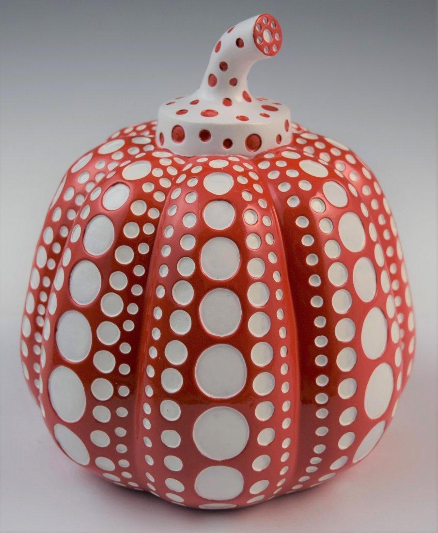 Yayoi Kusama - Large Resin Pumpkin Sculpture (Red)