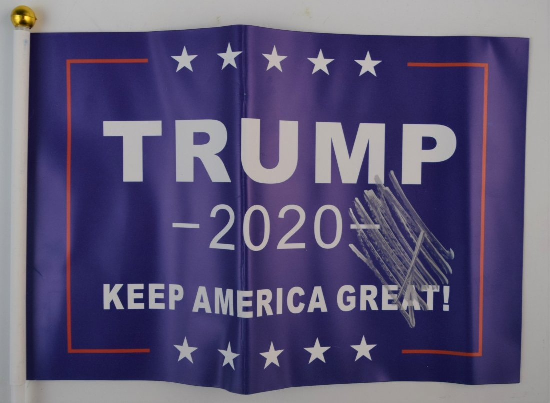 Donald Trump Campaign 2020 Flag (Signed)