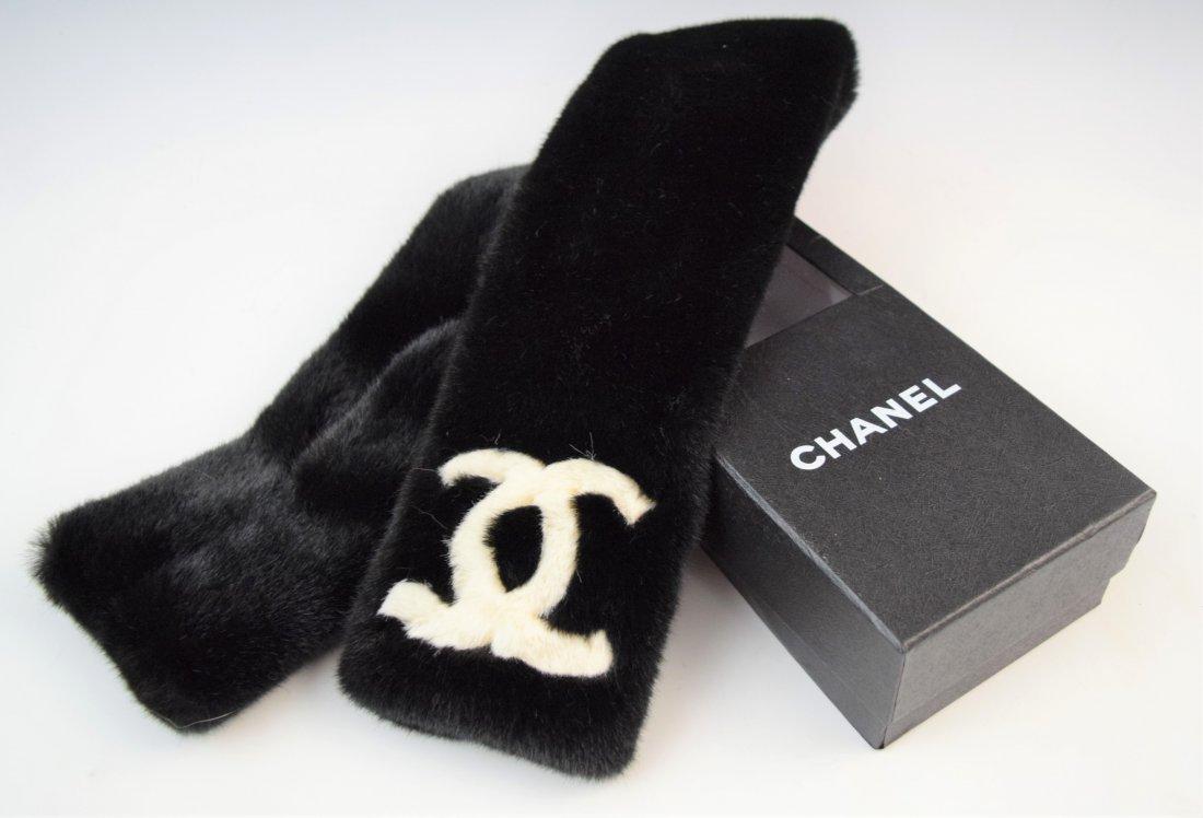 Chanel  faux fur neck warmer (w/box)