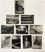 Ansel Adams Vintage Lot of 10 Photo-Litho Postcards