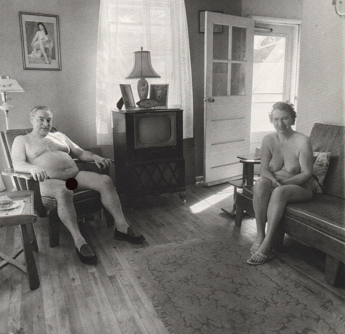 Diane Arbus -  Retired Man and Wife/Nudist Camp, 1963