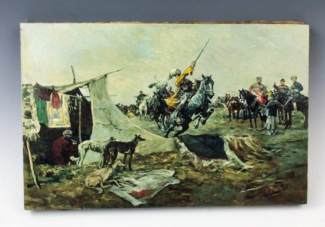 Josef Brandt - Oil on Canvas (Man on Horse)