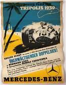 Mercedes-Benz Tripolis Grand Prix 1939 Poster