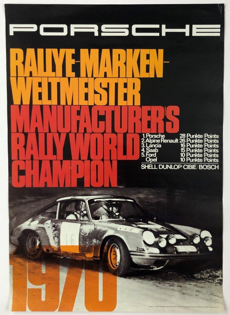 Porsche Rally World Champion Race Poster 1970