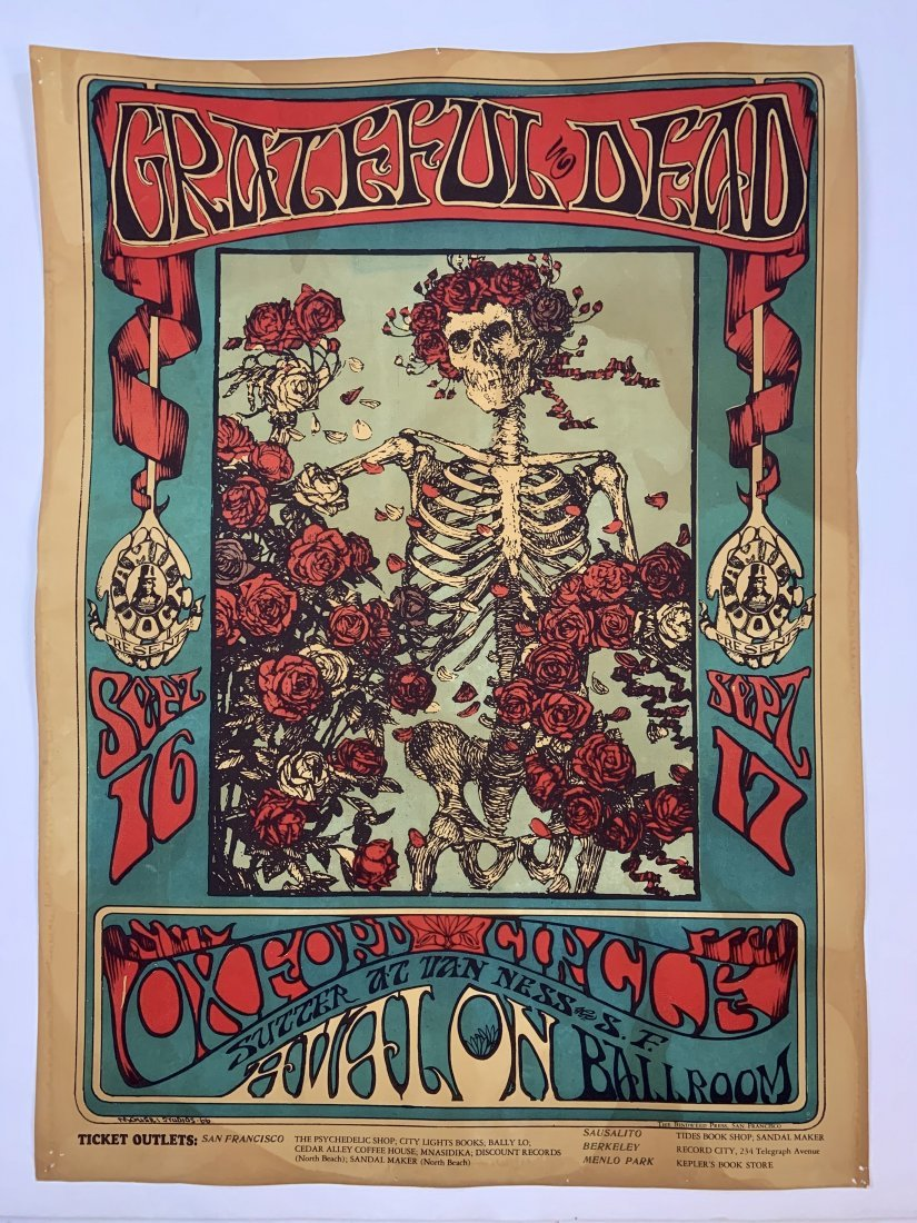 Grateful Dead Avalon Ballroom Vintage Poster