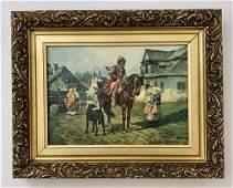 Wladyslaw Szerner - Oil on Canvas (Man on Horse)