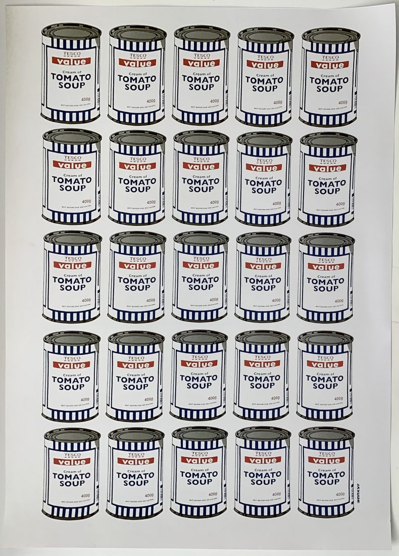 Banksy - Tesco Value Cream of Tomato Soup (X Pictures)