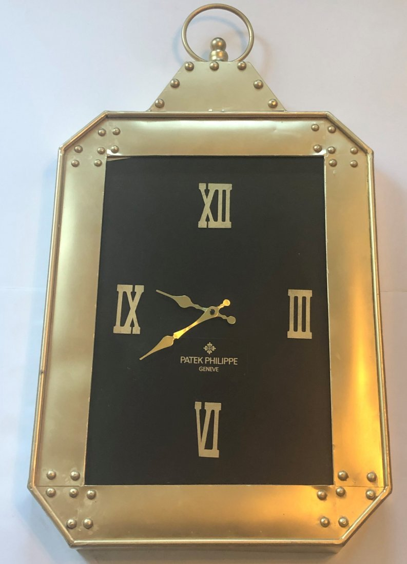 Patek Philippe Gilt Metal Gold Display Time Clock