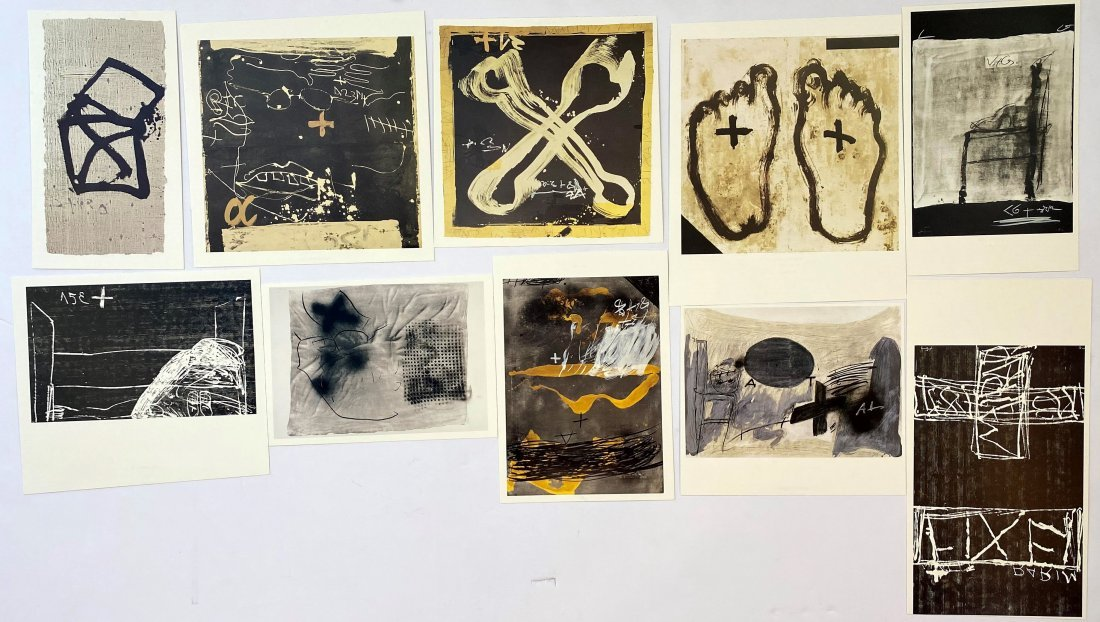 Grouping of 10 Antoni Tapies Offset Lithographs