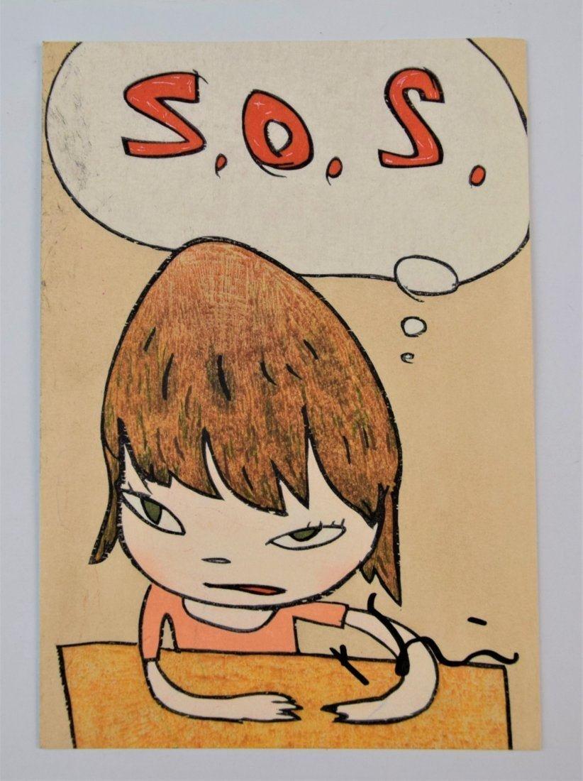 Yoshitomo Nara - S.O.S. (Hand Signed)