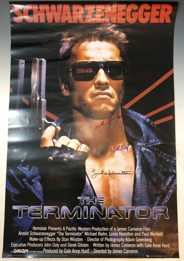 Terminator Movie Poster (Cast Signed)