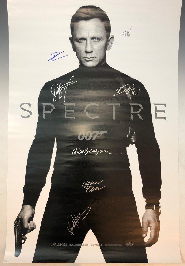 007 Spectre James Bond Movie Poster (Cast Signed)