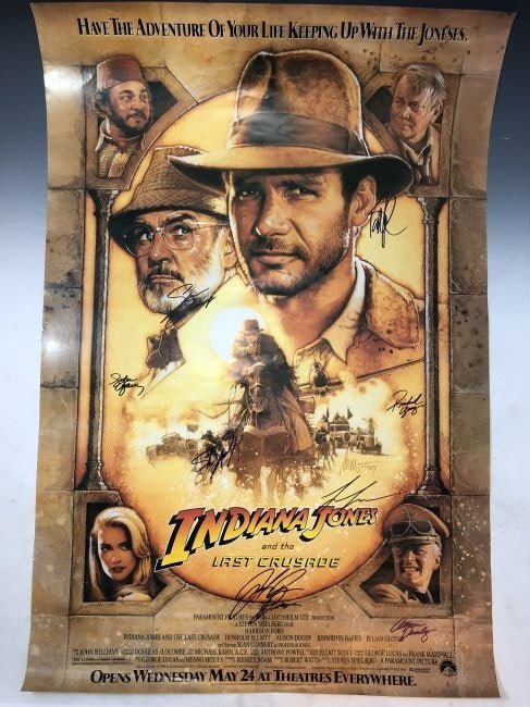 Indiana Jones The Last Crusade (Cast Signed Poster)