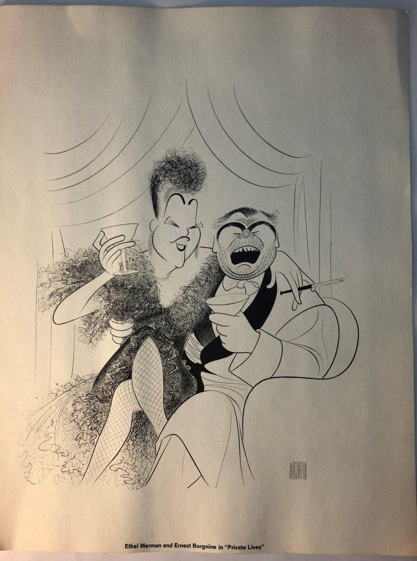 Al Hirschfeld - Ethel Merman & Ernest Borgnine