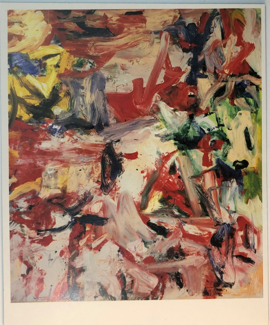 Willem de Kooning - Abstract Colored Offset Lithograph