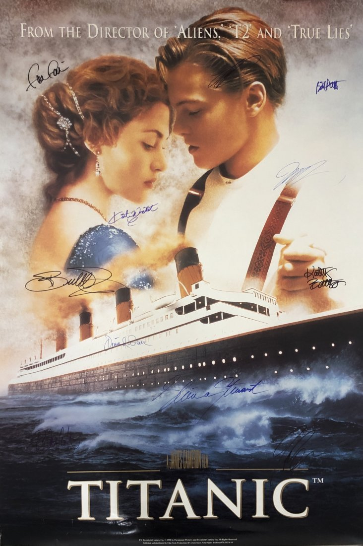 Titanic Cast Signed Movie Poster