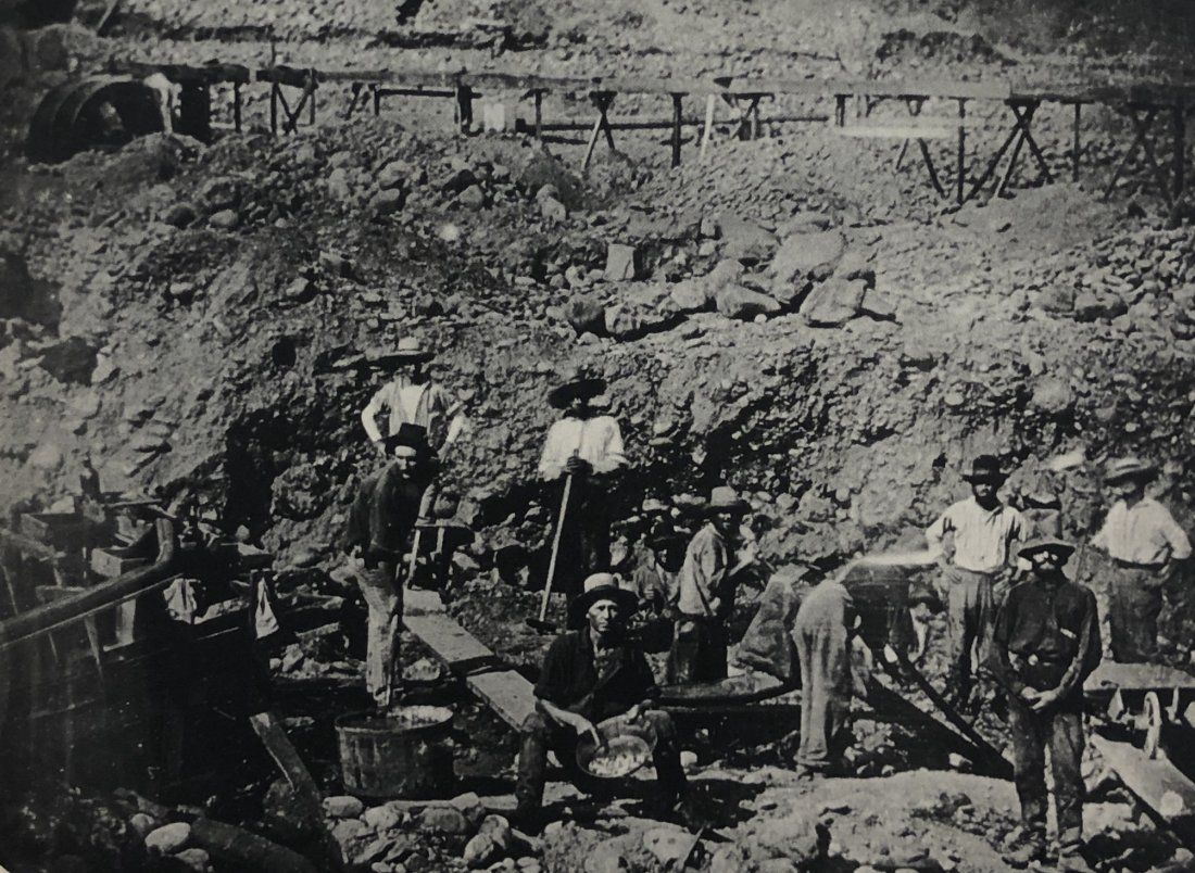 Unknown Photographer - Gold Miners, Daguerreotype, 1850