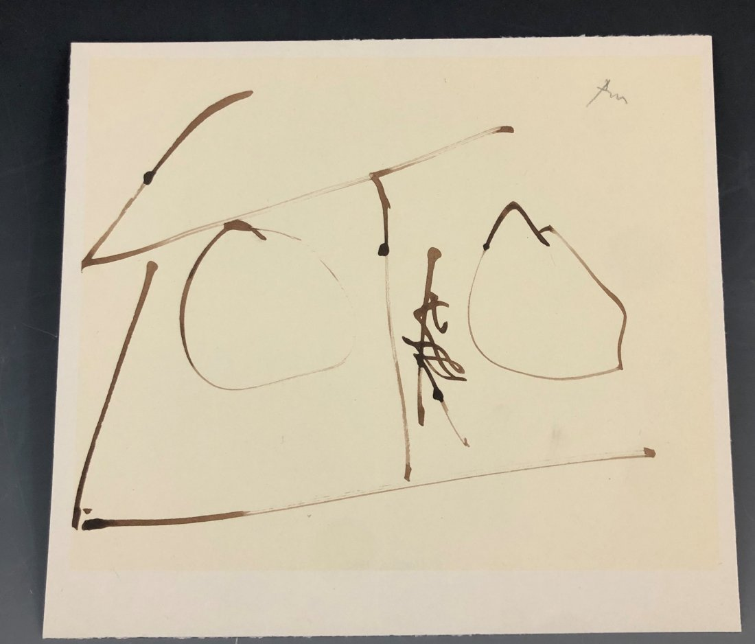 Robert Motherwell - Untitled, Abstract, Lithograph