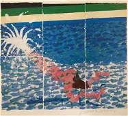 David Hockney  Swimming Pool Pencil Signed
