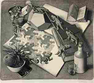 M.C. Escher - Reptiles, Pencil Signed (Lithograph)