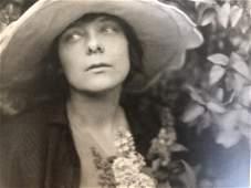 Edward Weston - Portrait of Margrethe in Garden, 1918