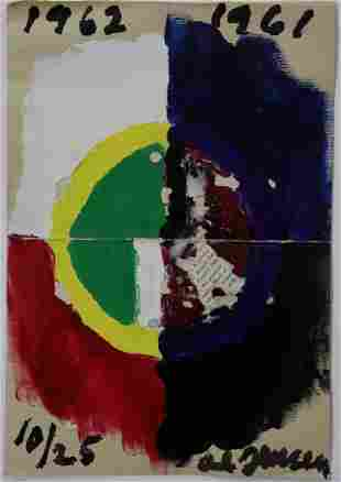 Alfred Jensen (Untitled, Circle) Oil Painting