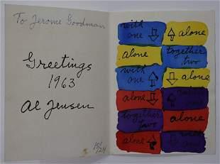 Alfred Jensen (Rectangles) Watercolor/Ink