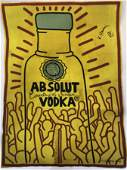 Keith Haring (Absolut Vodka) Hand Signed Large Print