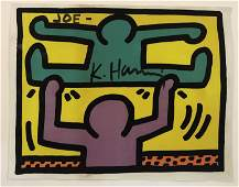 Keith Haring Pop Shop SignedInscribed Colored Print