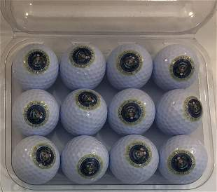 Grouping of 12 Presidential Trump White House Golfballs