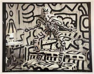 Black and White Photograph of Keith Haring