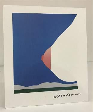 Tom Wesselmann (Nude) Colored Print