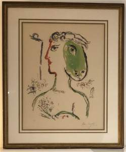 Marc Chagall Gallery Purchased Lithograph Pencil Signed