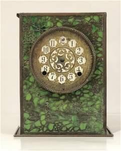 Tiffany Studios Bronze & Favrile Grapevine Mantle Clock