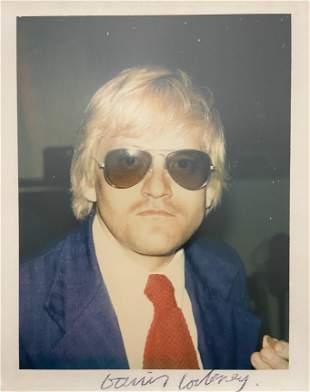 "Andy Warhol ""David Hockney, 1972"" Polaroid Print"